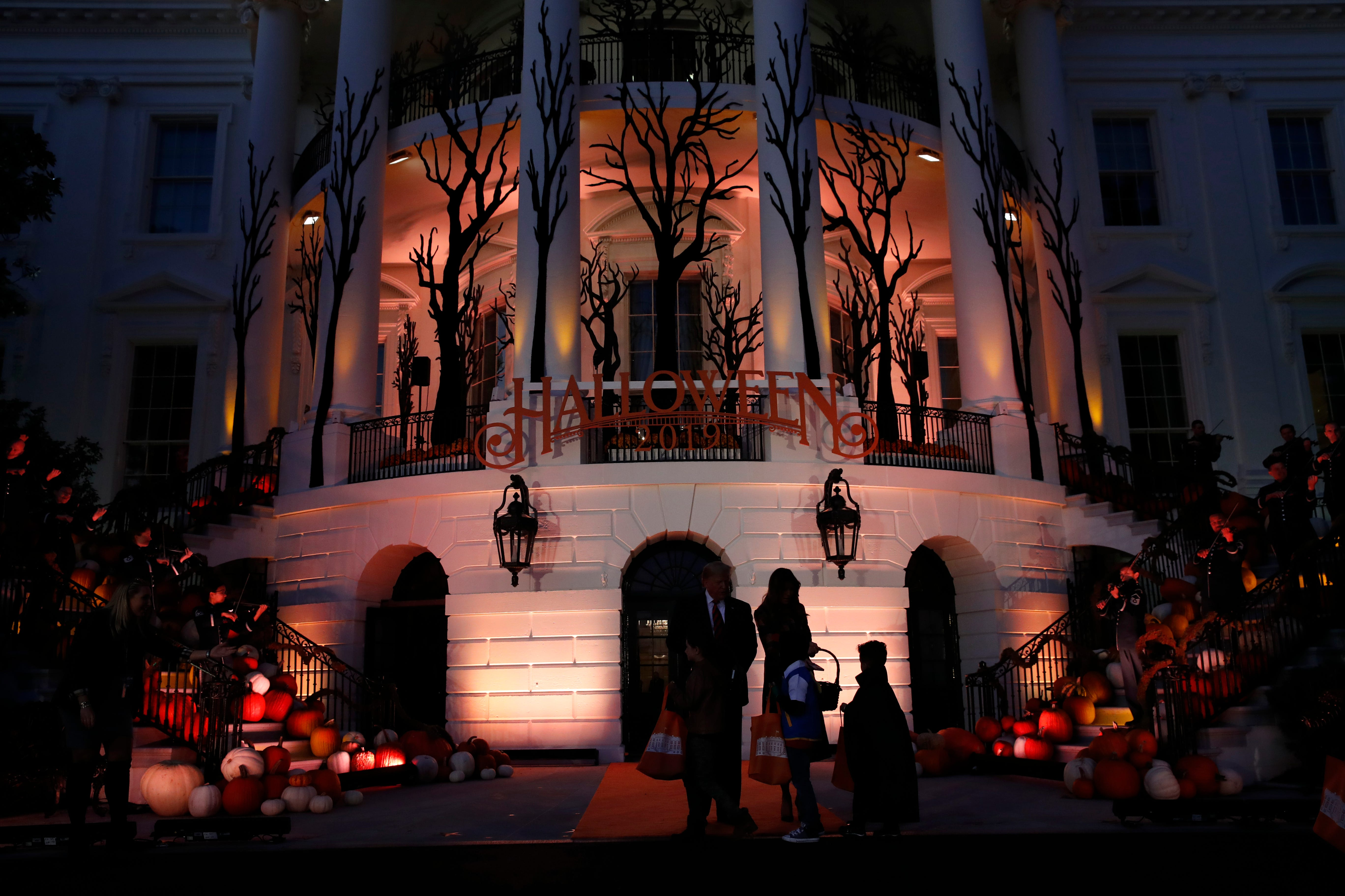 Halloween 2019 Trumps hand out candy to White House trick