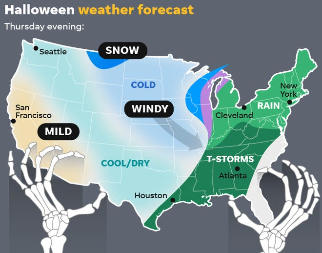 Halloween Forecast For 2020 Halloween weather forecast: Rain, snow and cold for trick or treaters