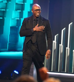 Dave Chappelle is honored with the Mark Twain Prize for American Humor at the Kennedy Center for the Performing Arts on Oct. 27, 2019, in Washington.