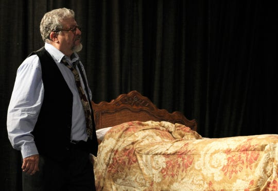 """Willy Loman (Gary Varner) finds himself alone in his struggles in Abilene Community Theatre's presentation of """"Death of a Salesman."""""""