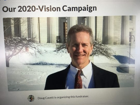 Gubernatorial candidate Douglas Cavett of Milton, as shown on a GoFundMe.com fundraiser.