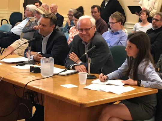 Aanen Olsen, Peter Calkins and Chelsea Ziegelbaum of Brookfield Properties on Oct. 28, 2019.