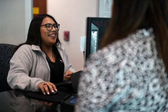 Angel Palacios works at NavyArmy Community Credit Union, Tuesday, Oct. 29, 2019. The branch was voted as Best Credit Union in the annual Caller-Times Best of the Best contest by readers.
