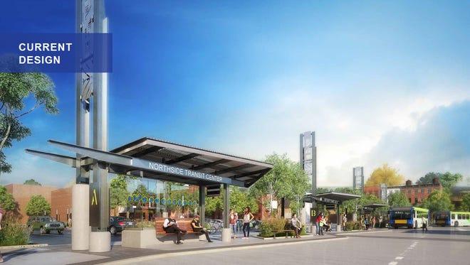 Design image for the Northside Transit Center.