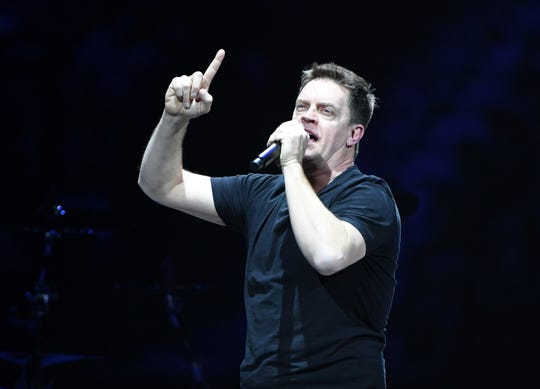 Comedian/actor Jim Breuer performs before a Metallica concert at T-Mobile Arena in Las Vegas on Nov. 26, 2018. He will be performing at Hoyt Sherman Place in Des Moines on Friday.