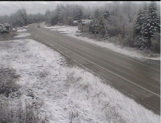 MDOT camera from US-2 at County Road 442 in the Upper Peninsula from Oct. 29, 2019.