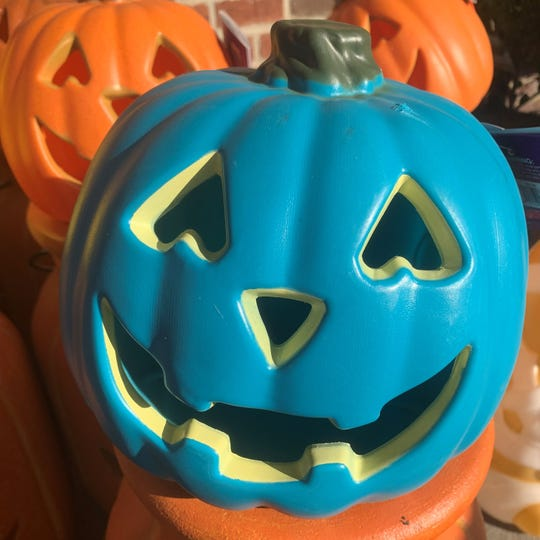 A teal pumpkin this Halloween means a home offers non-food or allergy safe treats. Kroger was one of several retailers that offered teal pumpkins this year.