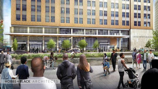 "Bagley Development Group LLC is planning a $56 million project to redevelop the United Artists building into 148 apartments, with 20% of the unites to be ""affordable"". The development is called Residences @ 150 Bagley."