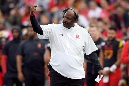 Maryland head coach Mike Locksley
