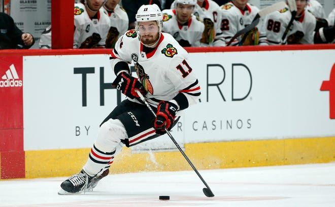 The Red Wings acquired Brendan Perlini in a trade with the Blackhawks.