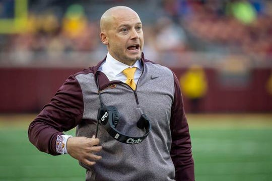 """My future at Minnesota is to make sure Minnesota gets the attention Minnesota is getting, on a national level,"" coach P.J. Fleck said."
