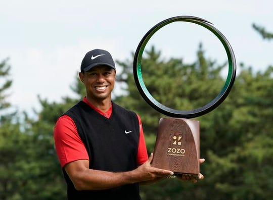 Tiger Woods won the the Zozo Championship Monday in Tokyo. It was his 82nd career PGA Tour victory, tying the record Sam Snead established in 1965.