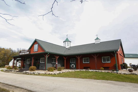 The spacious tasting room building at Ziegler Winery in Malone, Wisconsin, was fashioned out of a horse stable, once part of Camp Winnegator on Lake Winnebago, Saturday, October 26, 2019. Doug Raflik/USA TODAY NETWORK-Wisconsin