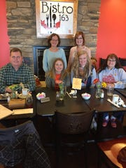 Some volunteers from the Benton-Carroll-Salem Lunch Club recently shared a lunch at Bistro 163. Front row, left to right, are Dave Baker, Bailey Janes, Callie Willoughby, Brenda Lochotzki.  In back are Brenda Hetrick and Maria Patrick.