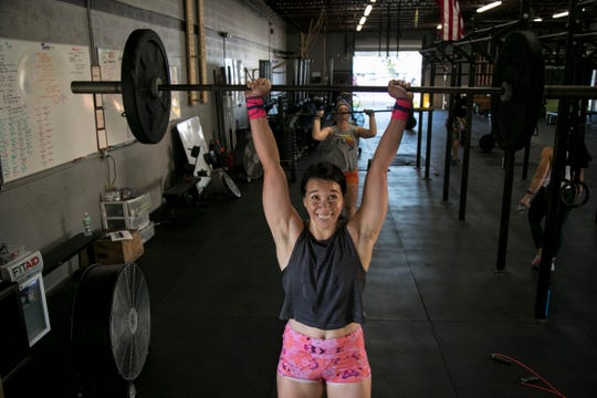 Annabelle Tometich works out at CrossFit 239 in Fort Myers on Tuesday, Oct. 29, 2019.
