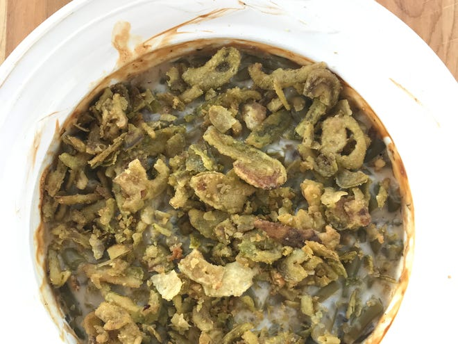 French's Crispy Jalapenos deliver more heat than flavor as a fried onion replacement in the green bean casserole.