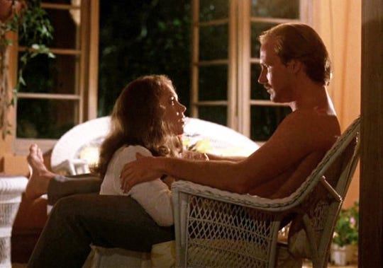 Kathleen Turner and William Hurt in a scene from the 1981 film 'Body Heat.'