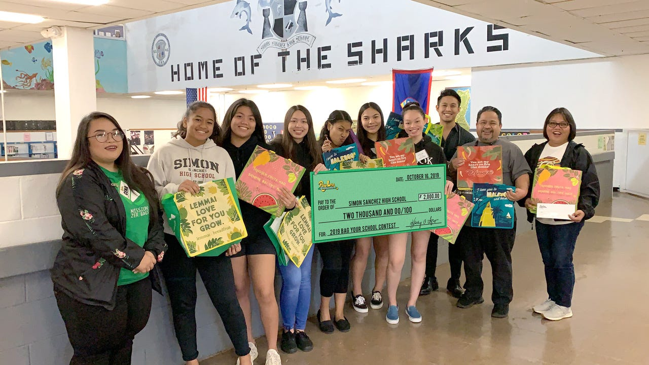 Simon Sanchez High School win first place in the large school category receiving $2,000.
