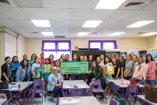 C.L. Taitano Elementary School took second place in the small school category.