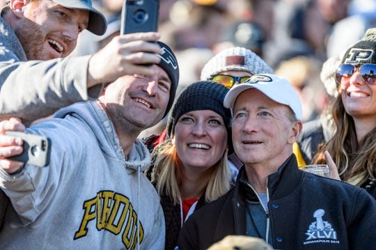 Mitch Daniels is an avid sports fan and attends football, basketball, volleyball and many other Purdue sporting events.