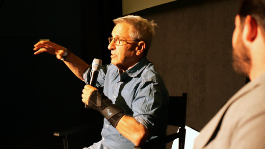 "Author, screenwriter and UI alum Nicholas Meyer talked about working on the script for ""The Ironmen"" at an Oct. 28, 2019 reading of the script."