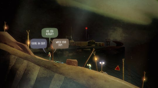 """Screenshot of """"Oxenfree"""" a video game from Night School Studio."""
