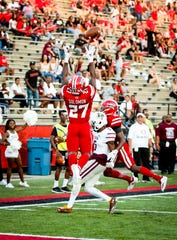 UL safety Cameron Solomon goes up high to break up a pass in a win over Texas Southern earlier this season.