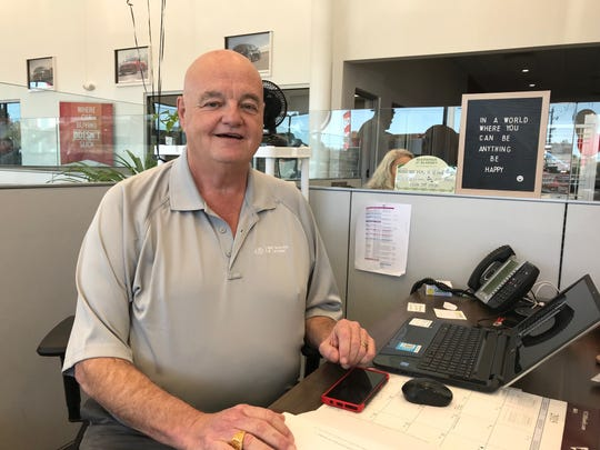 Matt Taylor Kia salesman Doug Mosack credits coworkers for helping to save his life after having a heart attack during an Aug. 5 sales meeting.
