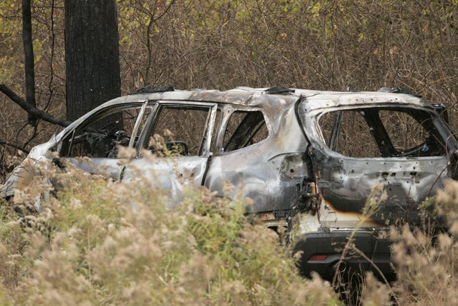 Two people died in a fiery crash on eastbound I-96 west of Fowlerville Rd. Tuesday, Oct. 29, 2019.