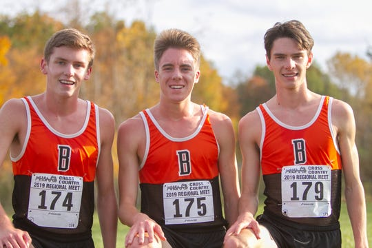 From left, Scott Spaanstra, Jack Spamer and Zach Stewart give Brighton a top three who could lead the way to a state championship Saturday.