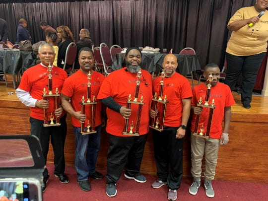 The winners of the 2018 Mississippi Boulevard Christian Church 'A Taste of the Blvd.' Men's Cook Off. From left to right, Rick Bobo, D.G. Gross, chef Nicolas Patterson, Tommie Marshall and Tyler Hill.