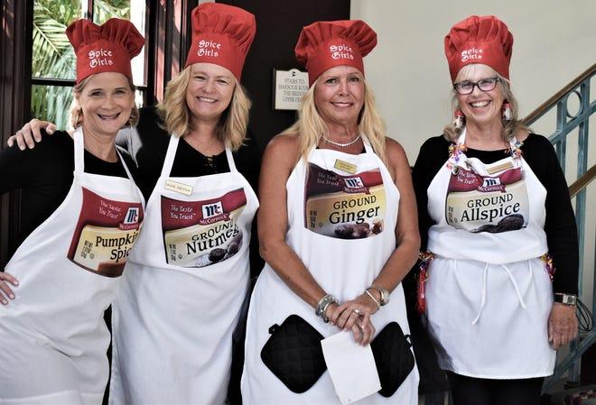 Spice Girls welcome new members, from left, Karen Arili, Diane Tretton, Ginger Miller ('Funniest Costume' winner) and Peggy Dahlquist.