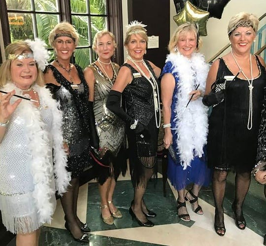 Flapper Girls were everywhere at the Marco Island Yacht Club Roaring '20s Welcome Back Party.