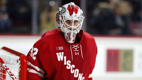 Wisconsin goaltender Daniel Lebedeff has stopped 108 of 118 shots in the Badgers' last four games.