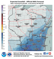 More snow is expected to fall across southern and central portions of Wisconsin later this week, but how much snow falls and where it falls depends on the track of the storm, according to forecasters.