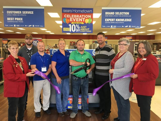 The Mountain Home Area Chamber of Commerce held a ribbon cutting with Sears Hometown Store to celebrate their grand reopening under new ownership. Sears Hometown Store is the local destination for major appliances including washers, dryers, refrigerators, dishwashers, and more! Customers can also shop for home goods including vacuums, hardware, and electronic needs, as well as a great selection of lawn & garden products including tractors, snow-blowers and mowers. Our Sears Hometown Store, located at 1029 U.S. Highway 62 East, Suite 1, services what they sell and has a fabulous lease to own program with no credit required.
