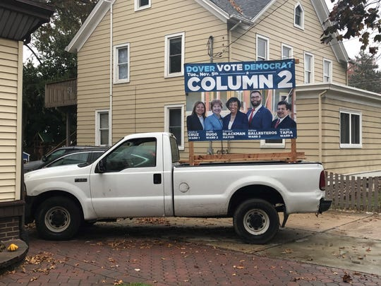 Blackman's campaign truck can be spotted driving around town.