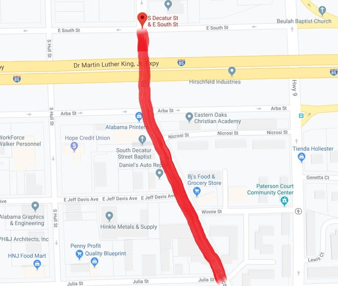 South Decatur St. will be closed from E. South and Julie streets for 120 days