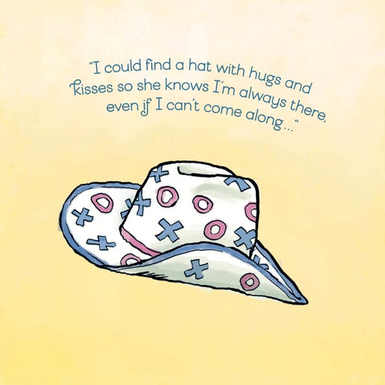 "One of the pages of ""Fritzy Finds a Hat"" by Scott Hamilton and Brad Paisley."