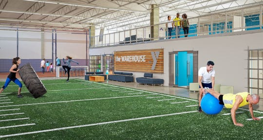 The training facility portion of the Dickson County Family YMCA as part of Phase 2.