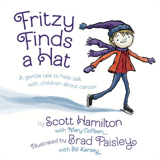 Book Cover of Fritzy Finds a Hat by Scott Hamilton and Brad Paisley.