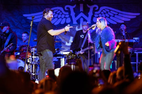 Cassadee Pope joins Chris Young at Whiskey Jam Oct. 28, 2019.