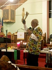 Kwame Lillard speaks at a previous African-American Cultural Alliance Kwanzaa celebrate. AACA will mark its 37th annual Nashville Kwanzaa celebration with an interactive family event with music, stories and food from 6-9 p.m. Dec. 27.