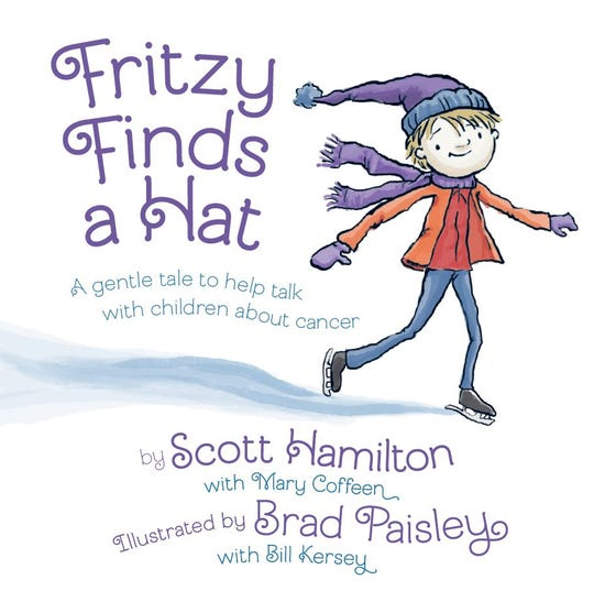 "Olympic figure skating legend Scott Hamilton and country star Brad Paisley collaborated on the children's book ""Fritzy Finds a Hat."""