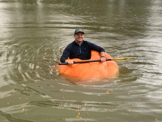 Justin Ownby has wanted to grow a giant pumpkin for four years. This year, he did it. And then he turned it into a boat.