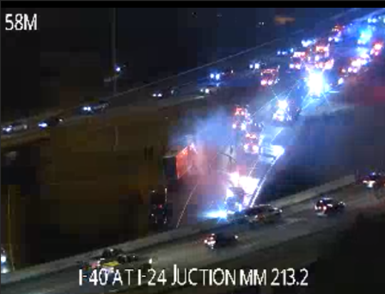 I-40 west crash on Oct. 29, 2019