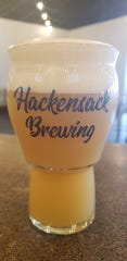 This glass from Hackensack Brewing Co. in Hackensack has a heavy base that's comfortable to hold and a wide top that helps release aromas.