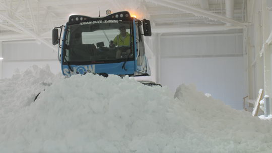Snow Cat being transferred into Big SNOW American Dream.