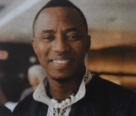 Copy photo of local resident and Nigerian journalist Omoyele Sowore who is imprisoned in a Nigerian prison where he has been held since August.