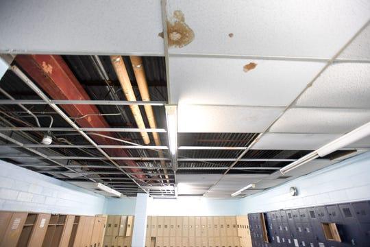Girls locker room at Palisades Park Junior Senior High School on Tuesday, October 29, 2019.